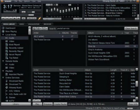 Winamp Media Player 5.66 build 3516 full rus